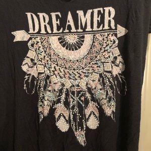OCCASION Dreamer Thin Black Short Sleeves Tee 2X